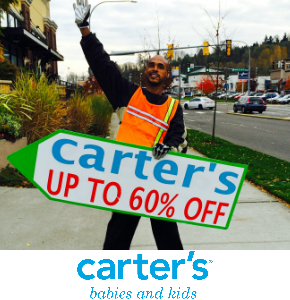 Carters Sign Spinners in Seattle