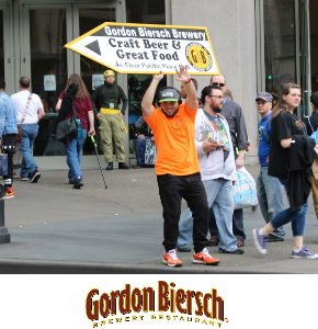 Sign Spinners in Seattle for Gordon Biersch
