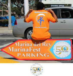 Los Angeles Sign Spinners promoting Marina Del Rey