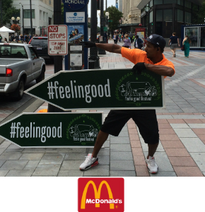 Sign Spinners in Seattle promoting McDondalds