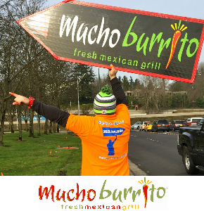 Tukwila and SeaTac Sign Spinners promote Mucho Burrito