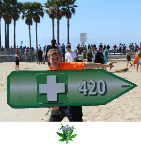 Sign Spinners promote Recreational and Medical Marijauna